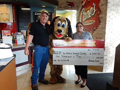 Raising Cane's Donation