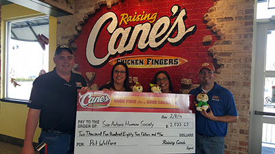 Raising Cane's Donation Thanks