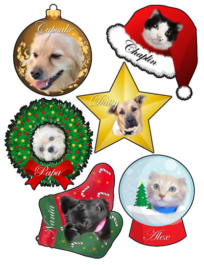 Pet Angel Tree Ornaments